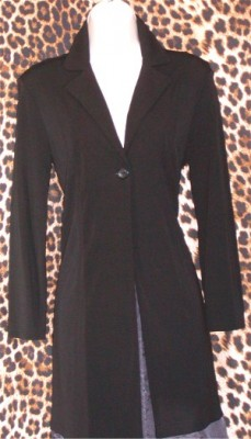 Gently Worn Kasper Ladies Blazer Long Fitted