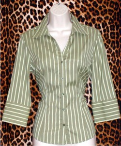 Olive Green Shirt Sharp And Smart Size: S