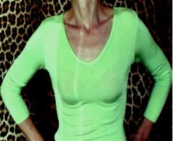 Gently Worn Top Neon Green