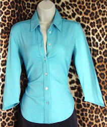 Gently Worn Top Beautiful turquoise