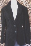 Black Velvet Retro Ladies Blazer
