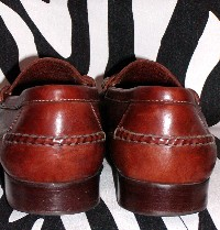 Retro Kirkland Strap Leather Loafers Mens, Size 11.5 D