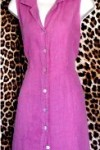 Gently Worn By Pollero Mauve Linen Dress