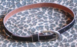 Gently worn Flashy Leather Belt