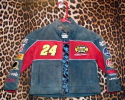 Pre-Owned Suede NASCAR Jacket For a Toddler