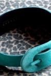 Retro Turquoise Suede Belt