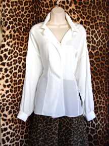 Gently Worn White Blouse