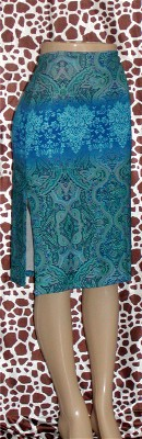 Pre Owned Skirt Blue and Turquoise