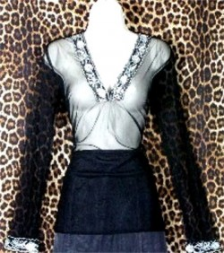 Pre Owned Black Evening Tunic