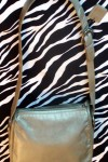 Pre-Owned Liz Claiborne Metallic Leather Shoulder Bag