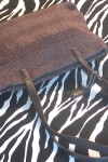 Pre-Owned Soft Woven Brown Handbag