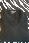 Gently Worn Black V-Neck Pullover