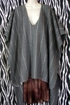 Pre-Owned Gray Wool Cape Coat One Size