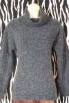 Pre-Owned Navy Angora Turtleneck