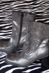 Pre-Owned Kenneth Cole Reaction Gray Ankle Boots Exotic Skin