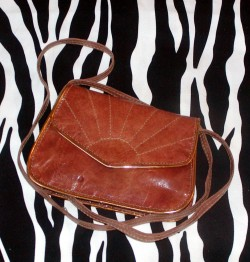Pre-Owned Pocket Size Leather Crossbody Purse