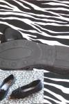 Black Velvet Ballerina Flats
