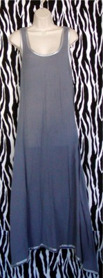Maxi A-Line Pale Gray Sundress