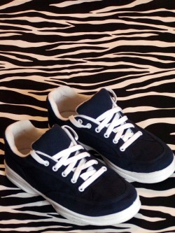 Well-Padded Navy Canvas Sneakers