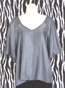 Pigeon Blue Batwing Blouse