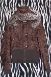 SHORT Warm Dark Brown Winter Hoodie Jacket