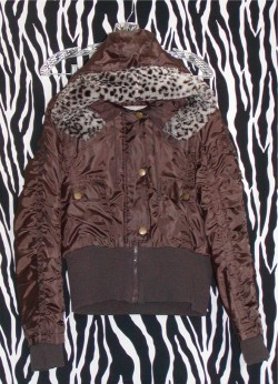 SHORT Warm Dark Brown Winter Hoodie Jacket