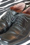 Gently Worn Black Leather Oxford Shoes