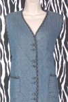 Quilted Denim Vest
