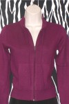 Zippered Burgundy Cardigan